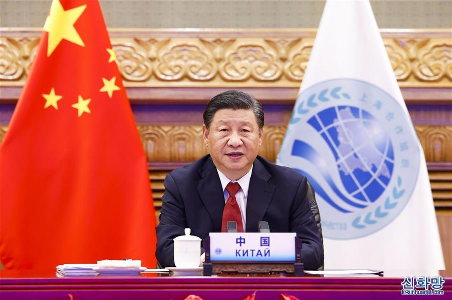 (時政)(1)習近平出席上海合作組織成員國元首理事會第二十一次會議並發表重要講話