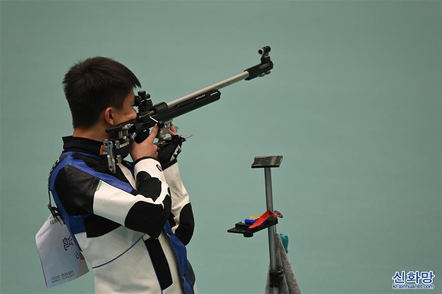 (全運會)(1)射擊——男子50米步槍3種姿勢決賽:張常鴻奪冠