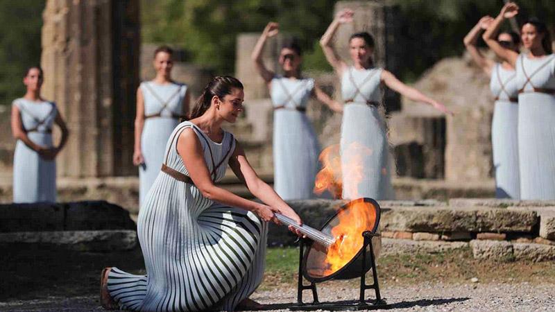 베이징 동계올림픽 성화, 그리스서 채화