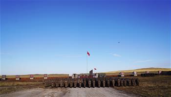 SCO 회원국 합동 대테러 군사훈련 '평화 사명-2021' 중국군 진영 개영식 열려