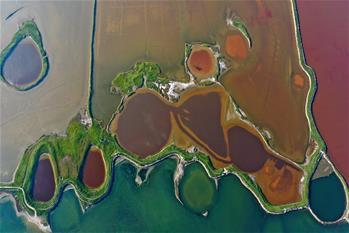 가을빛 물든 호수
