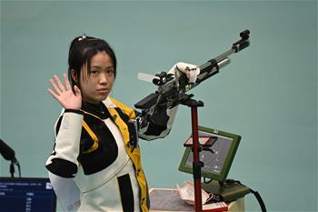 사격——여자10m 공기소총 결선: 왕즈린 金, 양첸 銅 획득