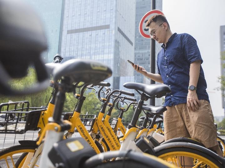 中 공유자전거 탈 때 '디지털 위안화'로 결제한다