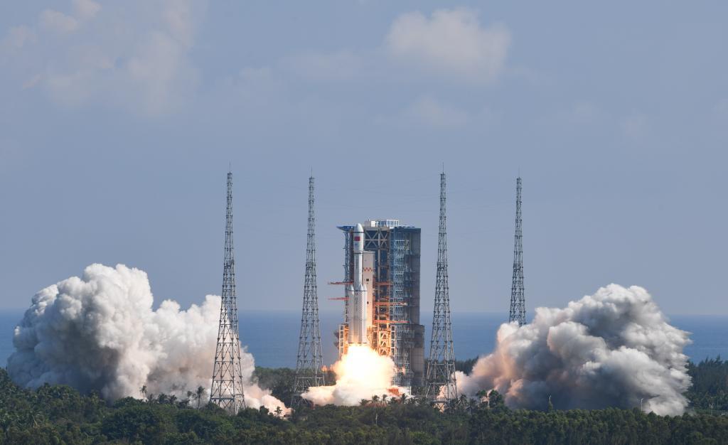 中 화물우주선 톈저우 3호 발사 성공